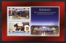 Kiribati 2014 MNH XX Commonwealth Games Glasgow 2v M/S Dogs Sports Stamps