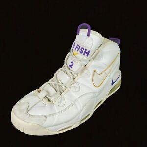 Nike Air Max Tempo Size 13.5 White Yellow LA Lakers Derek Fisher OG Rare 2001