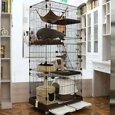 82 cm Rabbit Cage Hutch Metal Cat Ferret Guinea Pig House Small Animal Pet