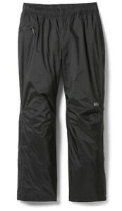 REI Co Op Essential Rain Pants Womens XL Petite Black Grey Athletic Hike Hiking