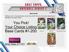 2021 Topps Series 1 Base Card #1-200 YOU PICK, Your Choice, Complete Your Set