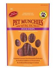 Pet Munchies Duck Strips from Finest Duck Breast Meat ~ 4 x Packs (90g/Pack)
