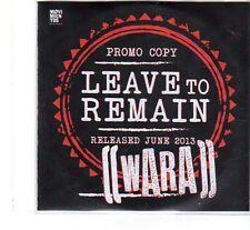 (FT243) Wara, Leave To Remain - 2013 DJ CD