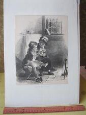 Vintage Print,AFTER THE FROLIC,JohnS.Dovre,Aldine Mag.1873