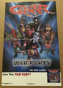 GWAR Rare 2004 PROMO POSTER for War party CD USA seller NEVER DISPLAYED 11x17