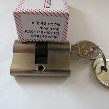 Euro Profile Short Cylinder Lock For glass Door Or Thin Door 46MM Keyed alike