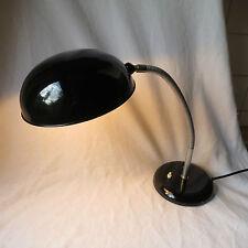 GECOS große alte Schreibtischlampe Lampe Leuchte schwarz Schwanenhals Bauhaus