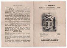 1925 EASTER SUNDAY BULLETIN Arlington Massachusetts ORTHODOX CONGREGATIONAL Mass