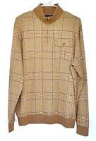 Polo Ralph Lauren Golf Size L Pima Cotton Alpaca Blend Quarter Zip Plaid Sweater