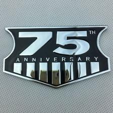 3D Zinc Alloy Chrome 75th ANNIVERSARY Car Fender Rear Trunk Emblem Badge Sticker