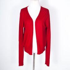 Rick Owens Stag F/W 2008 Red Open Cardigan Wool Knit Sweater S/M/L