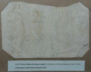 MANNER OF VITTORE CARPACCIO (1465-1525) 16TH CENTURY ITALIAN SCHOOL INK DRAWING