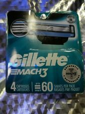 New Gillette Mach 3, 4 Replacement Cartridges.