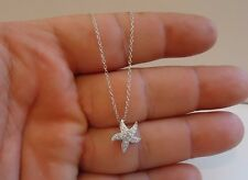 925 STERLING SILVER STARFISH PENDANT NECKLACE W/ .75 CT ACCENTS / NEW DESIGN!!!!