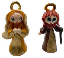 Miniature Dough Clay Nativity Scene Jesus Joseph Mary 15 Handmade Figurines