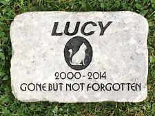 Personalized, Engraved Pet Memorial Stone, Cat, Dog, Horse, Garden Decor