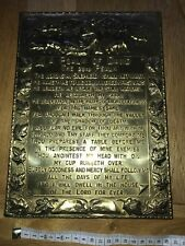Religious Brass plaque A Psalm Of David The  23rd Psalm