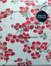 "LAURA ASHLEY Iona Jacquard Cranberry pencil pleat curtains W88"" x L90"" RRP £275"