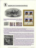 USPS Commemorative Panel #345 25c Ida B. Wells #2442