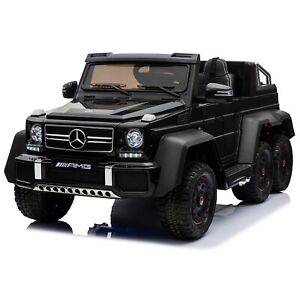 Licensed Mercedes Benz G63 with 6 Wheels 4WD Kids Ride On Car Remote control - B