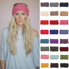 Winter Damen Ohrwärmer Kopfverpackung Mode Häkel Stirnband Strick Blume Haarband