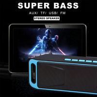 LOUD Wireless Bluetooth Speaker Waterproof Portable Stereo Bass USB/FM/TF Blue
