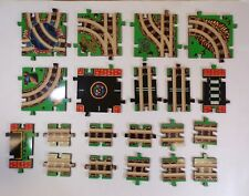 Melissa and Doug Puzzle World Wooden Train Track/Road Pieces Toy Part Lot
