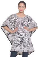 White Black Tunic Kaftan Short Kaftan Caftan Boho Tunic Beachwear Tunic One size