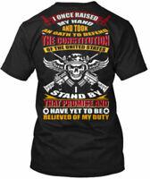 Veteran Oath Gildan Tee T-Shirt Cotton Crew neck short sleeve For Men Women