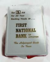 Vtg First National Bank of Appleton First Aid Kit - Wisconsin