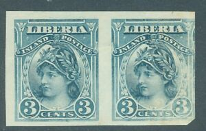 Liberia 1903, 3c Liberty Inland Postage, color trial proof in blue #94