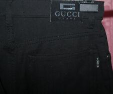 Gucci pantalones jeans talla 30 32 * topst * negro modelo 229 Made in Italy