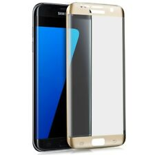 ^ 3D Curved Schutzfolie Echt Hartglas Glas 9H FULL Samsung Galaxy J7 2017 Gold