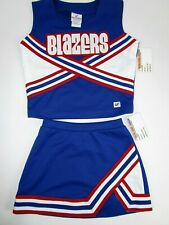 New Blazers Cheerleader Uniform Outfit Costume Teen Youth Elastic Skirt Red Blue