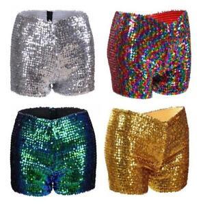 Women's Festival Sequin Hotpants: Dance rave Party Outfit Sparkle Clothing
