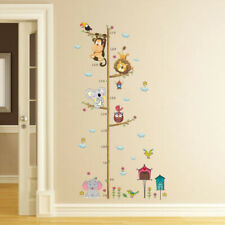 Wall Stickers Bedroom Mural Decal Paper Jungle Kids Height Chart Measure Decals
