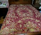 """Antique Italy 76""""x50"""" Velvety Tapestry Rug or ?  Japan Scenic Geishas,Boats,etc."""