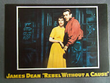 80s postcard JAMES DEAN NATALIE WOOD 1955 REbel Without a Cause poster