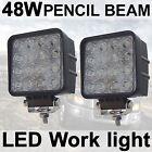 2X 48W LED Work Light Spot beam Driving Lamp 12V 24V off road car Truck 4WD UTE