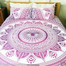 Indische Baumwolle Donna Bettbezug Bettlaken Boho Ombre Mandala Duvet Decken