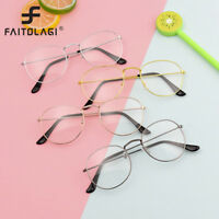 Fashion Unisex Vintage Retro Round Circle Mirror Lens Glasses Eyewear Eyeglasses