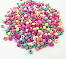 200X Mini Round Beads DIY Kids Toy crafts Necklace Wood Spacer Beads 6mm