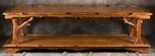 "Hand-crafted Coffee Table- Carved out of Red Oak 22"" x 60""  18"" high $1,500.00"