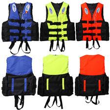 Polyester Adult Life Jacket Swimming Boating Ski Foam Vest + Whistle S-XXXL Size