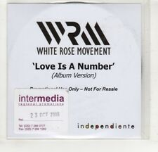 (HM309) White Rose Movement, Love Is A Number - 2006 DJ CD