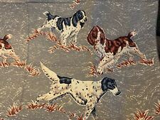 Hunting Dogs Vat Colored Irish English Setters Pointers Beautiful Vintage