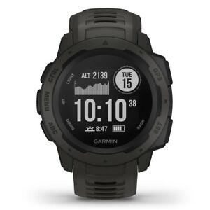 NEW Garmin Instinct Graphite GPS Watch By Anaconda
