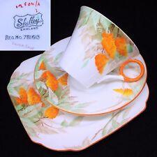 Shelley 1936 12504 Silver Sage Regent 781613 English Vintage China Trio Set RARE