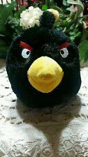 "Angry Birds Plush Black Bomb Male 7"" stuffed animal 2010 Commonwealth character"