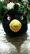 "Angry Birds Plush Black Bomb Male 7"" stuffed animal 2010 Commonwealth character"